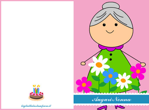 biglietti auguri nonna compleanno