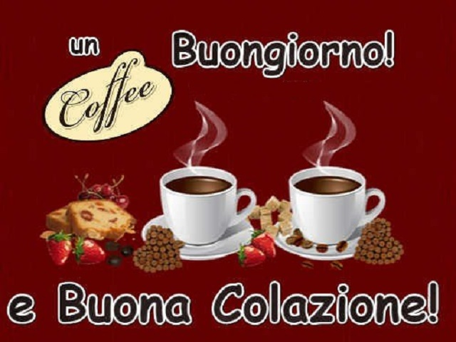 buongiorno caffè colazione