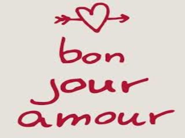 buongiorno amore francese