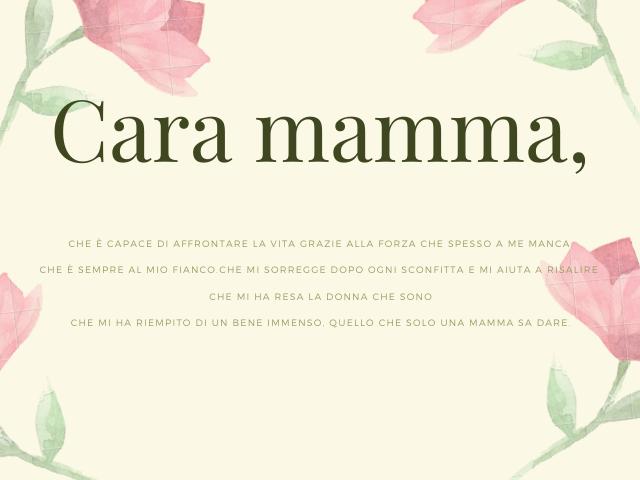carissima mamma