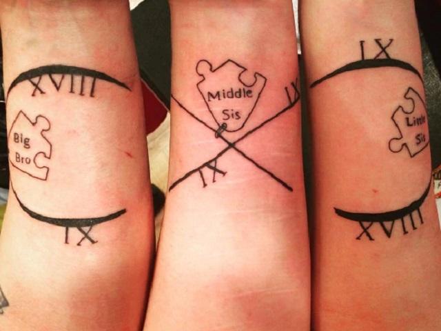 tatuaggi tra fratelli