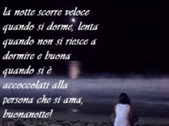 Buonanotte dolce amore