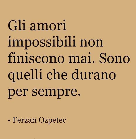 pensiero amore impossibile