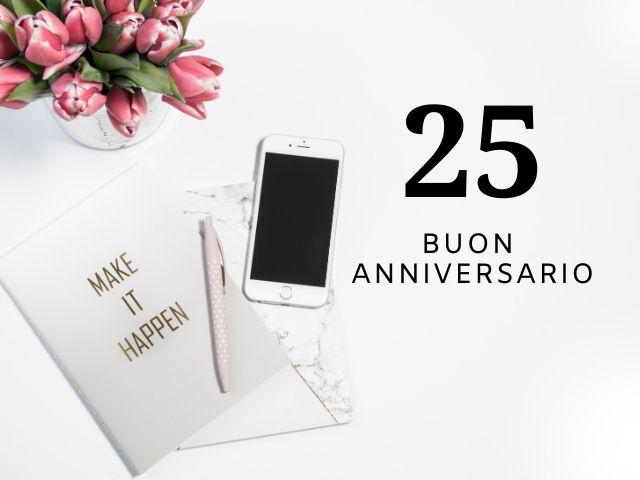 anniversario 25 anni matrimonio