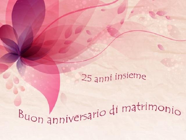 anniversario di matrimonio 25 anni