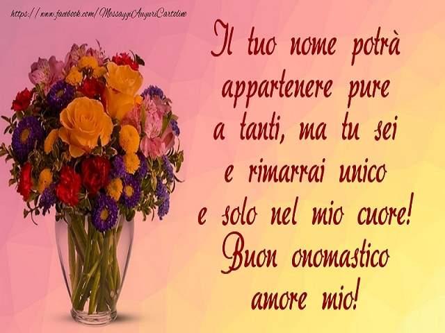auguri buon onomastico amore