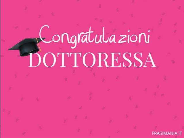 congratulazioni dottoressa