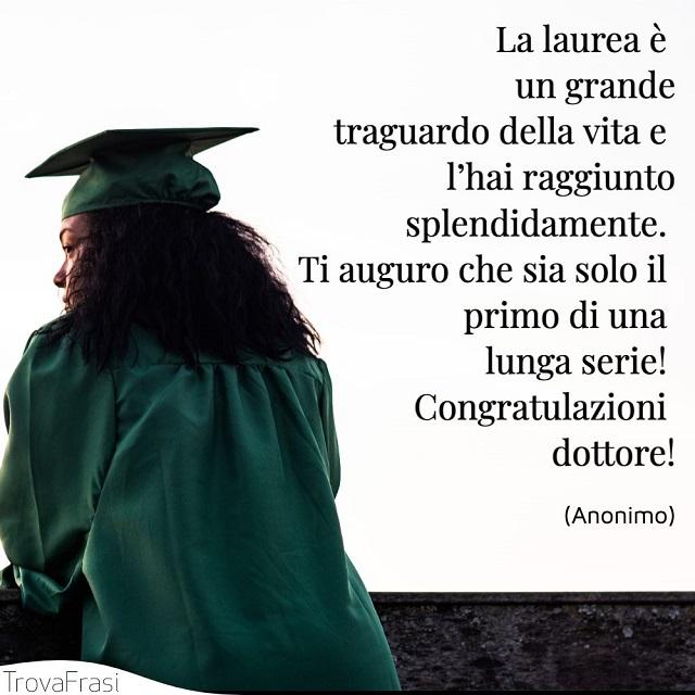 congratulazioni laurea dottore
