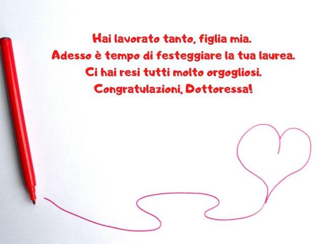 congratulazioni laurea figlia