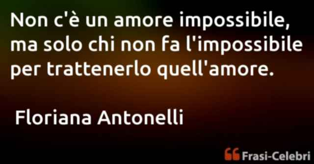 frase amore impossibile