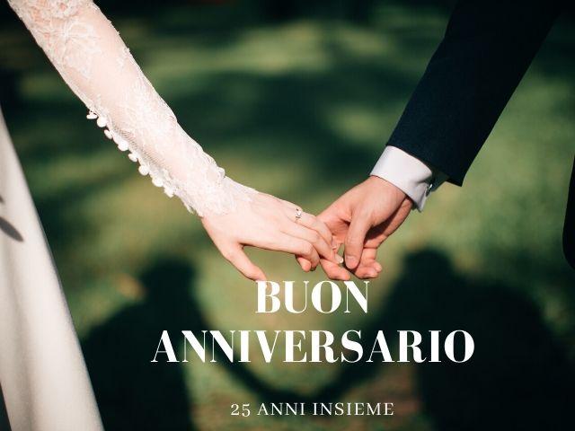 frasi auguri 25 anni matrimonio