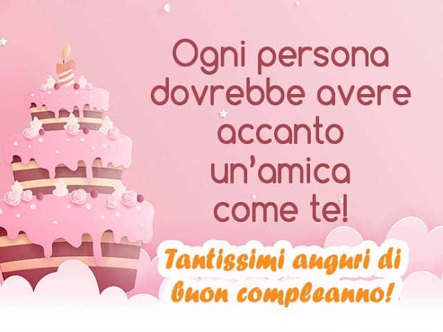 frasi di buon compleanno per un'amica