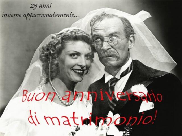 frasi per 25 anni di matrimonio divertenti