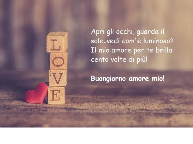 frasi per buongiorno amore