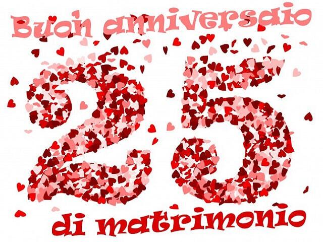 immagini anniversario 25 anni matrimonio