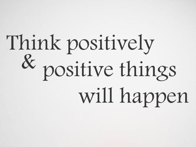 messaggio positivo
