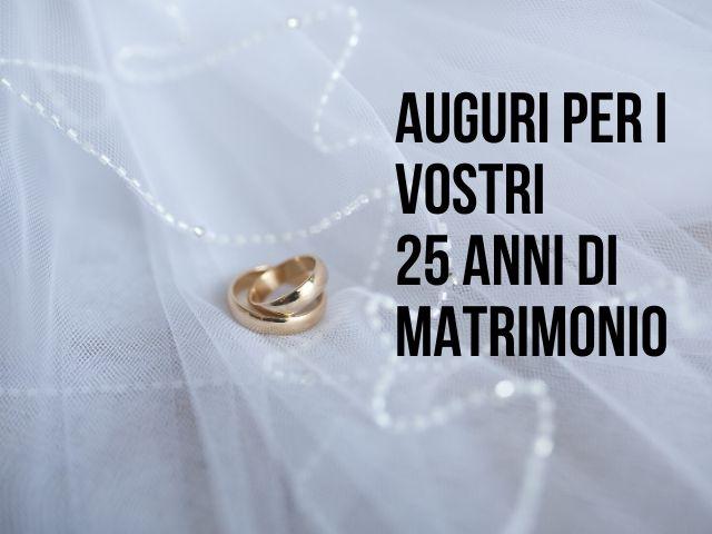Anniversario 25 Anni Di Matrimonio Frasi.207 Frasi Immagini E Video Per I 25 Anni Di Matrimonio