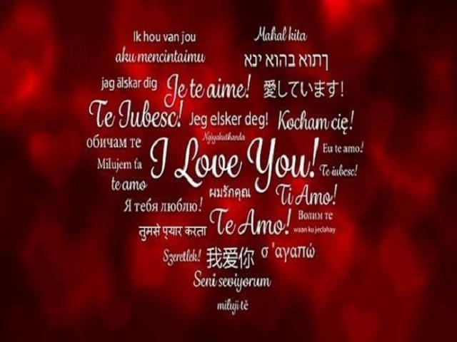 ti amo in tutte le lingue