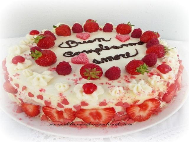 torta buon compleanno amore