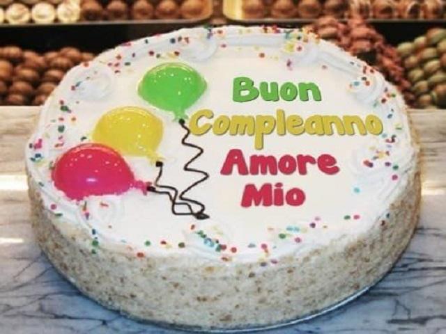 Torta Buon compleanno amore mio