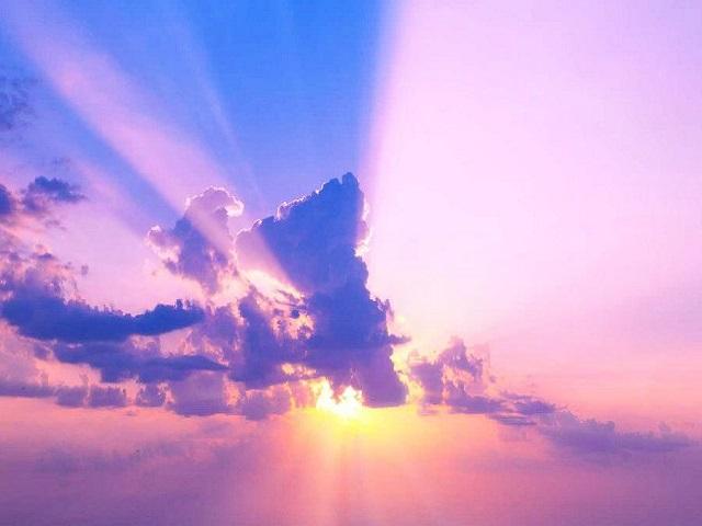 immagine cielo tramonto