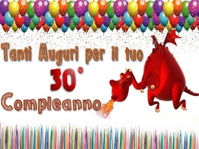 30 anni compleanno