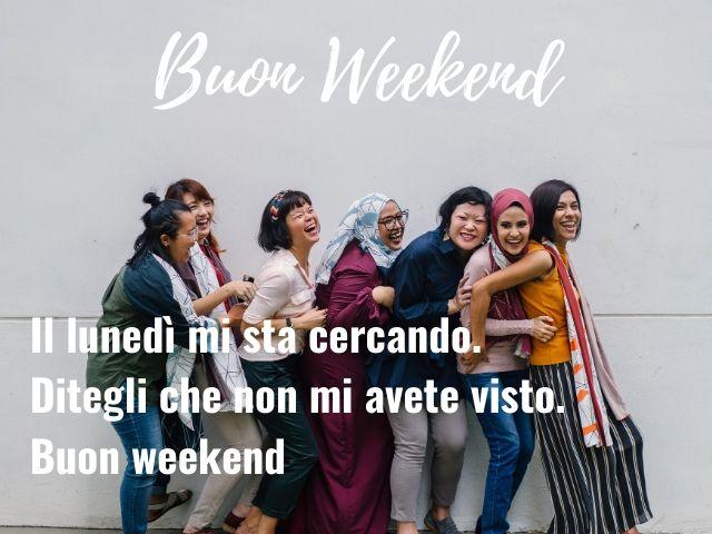 buon weekend immagini divertenti