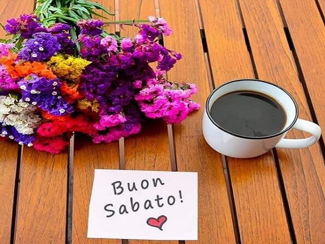 Buon sabato con i fiori