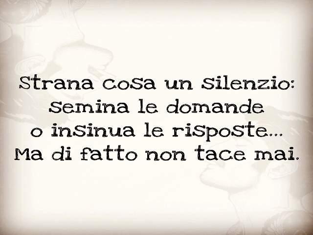 il silenzio fa rumore