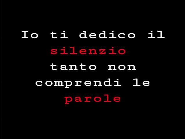 il silenzio in amore