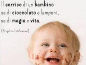 il sorriso di un bambino frasi