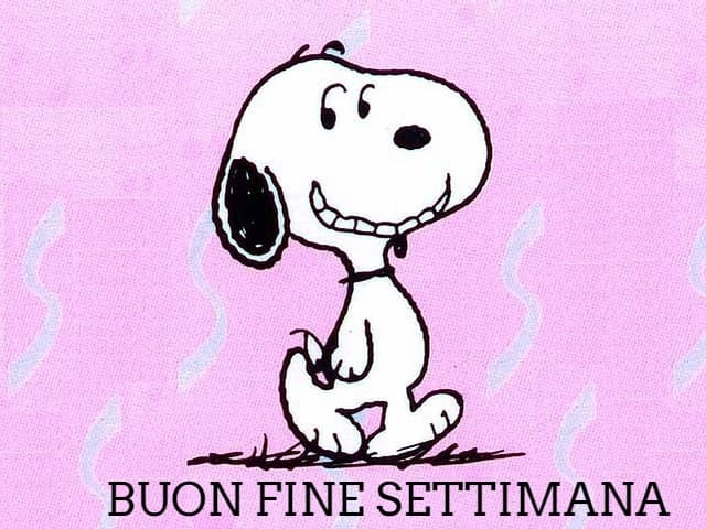 Buon weekend Snoopy 1