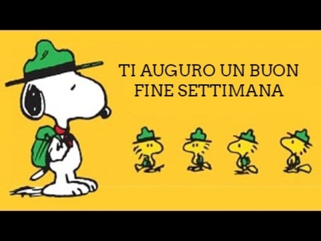 Buon weekend Snoopy 3