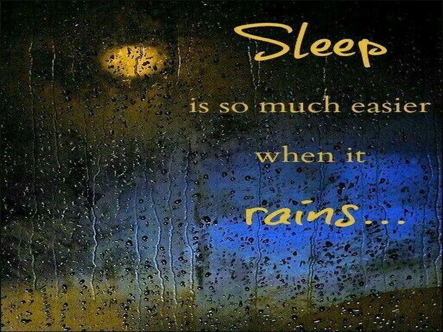 buonanotte pioggia in inglese