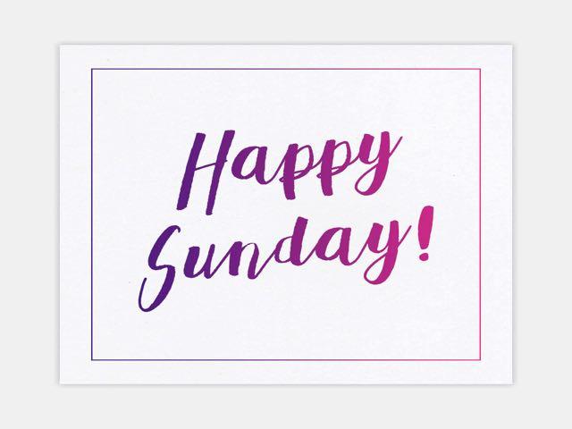 buongiorno e buona domenica