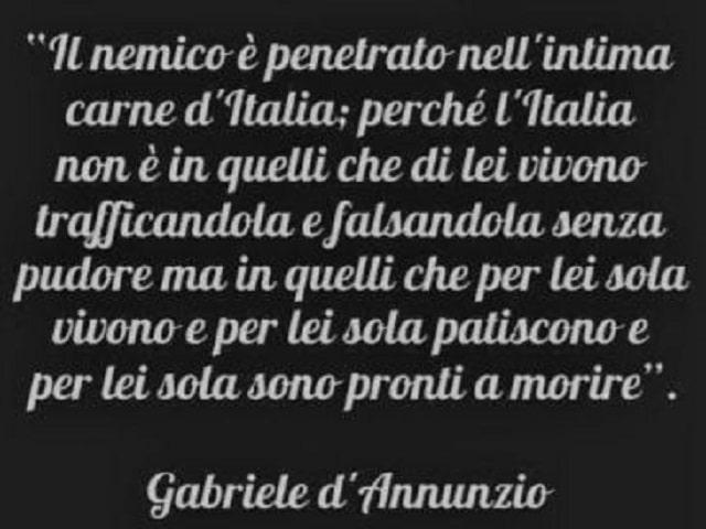 D'Annunzio poesie prima guerra mondiale