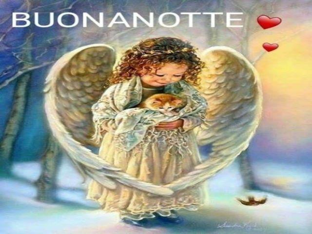 frasi buonanotte con angeli