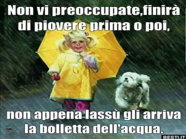 frasi sulla pioggia divertenti