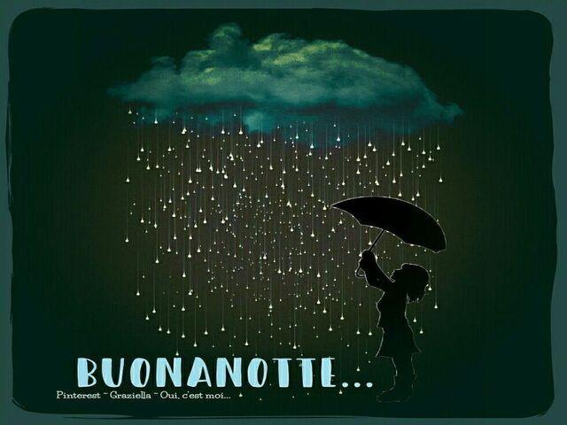 immagini buonanotte pioggia