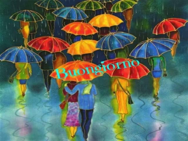 immagini buongiorno sotto la pioggia