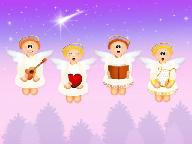 immagini di angeli da colorare