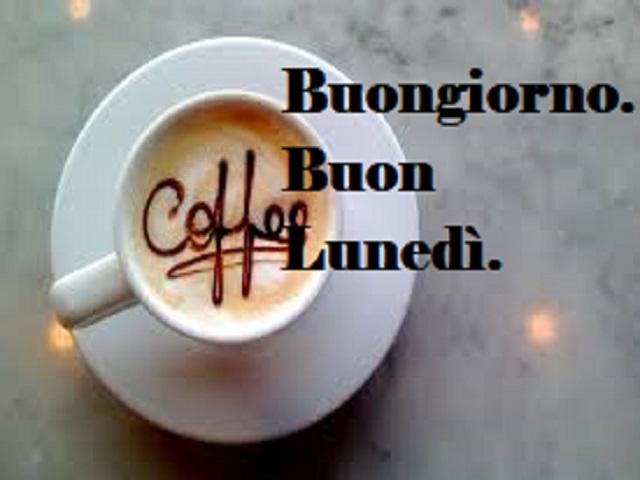 immagini di buon lunedì con caffè