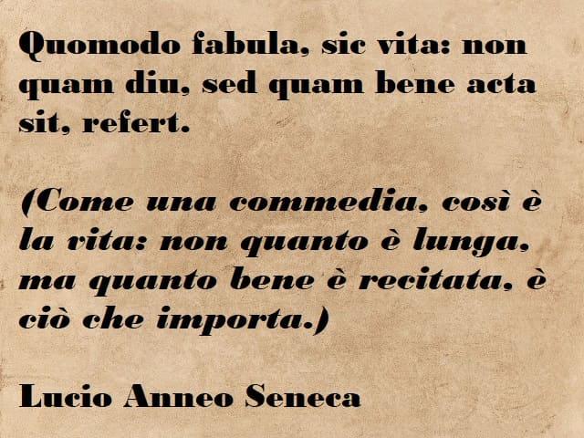 frasi di seneca in latino