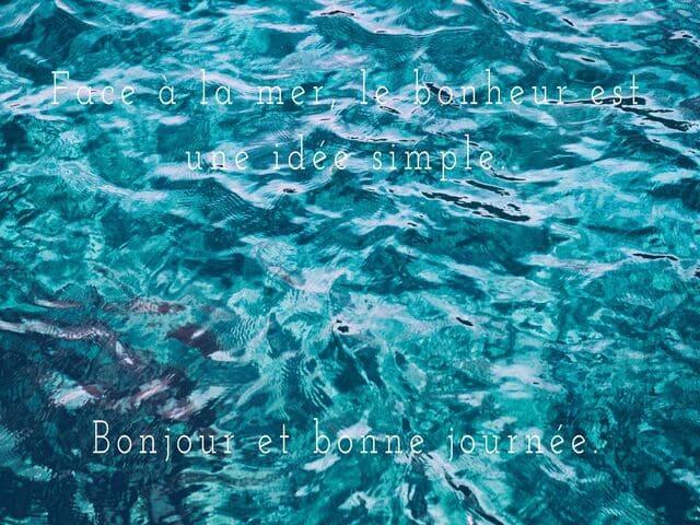 frasi in francese mare