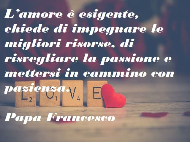 frasi papa francesco sull'amore