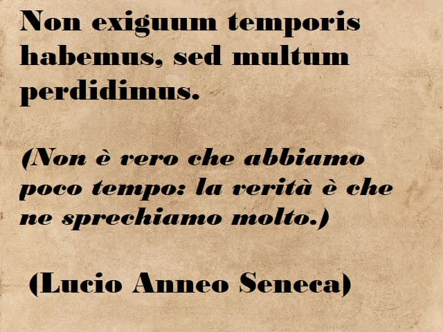 frasi sul tempo in latino