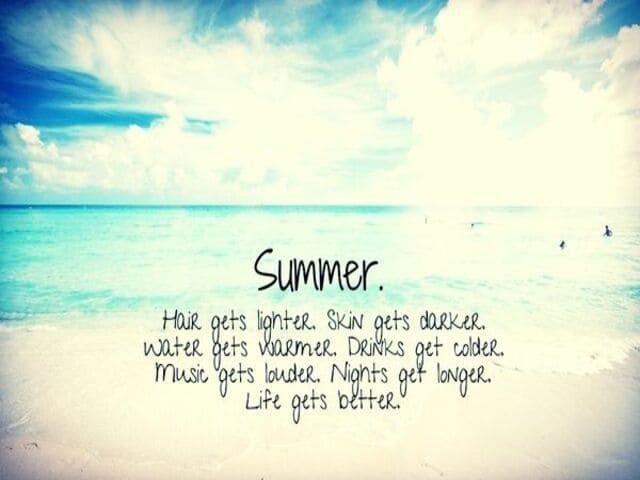 frasi sull'estate in inglese 12