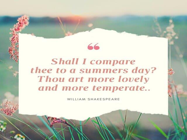frasi sull'estate in inglese 13