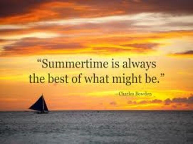 frasi sull'estate in inglese 8