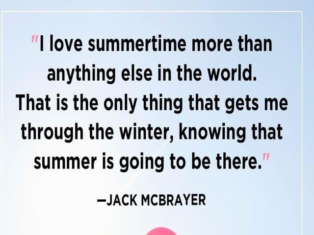 frasi sull'estate in inglese